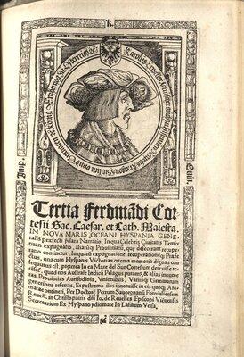 Praeclara Ferdinadi Cortesii de Nova maris Oceani Hyspania... - Title page