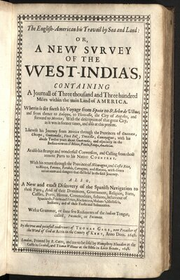 The English-American his travail by sea and land… - Title page