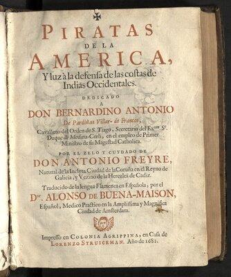 Piratas de la America  - Title page