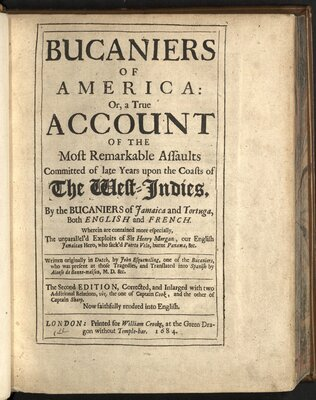 Bucaniers of America  - Title page