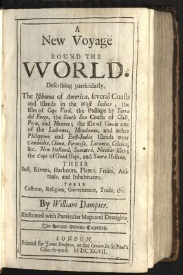 A New Voyage Round the World - Title page