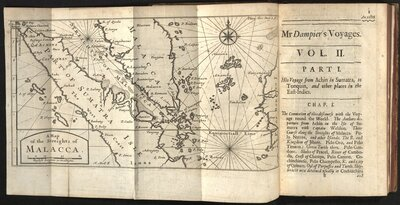 Voyages and Descriptions… Vol. II - Map of the Streights of Malacca