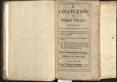 A Collection of Original Voyages…  - Title page