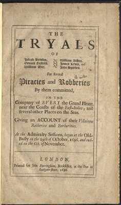 The Tryals of Joseph Dawson, Edward Forseith, William May, William Bishop…  - Title page