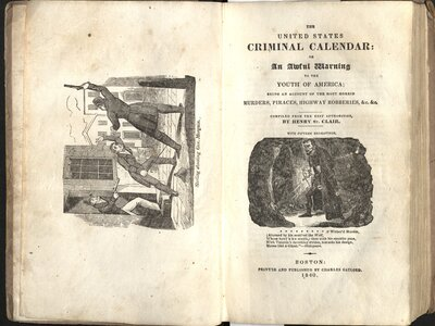 The United States Criminal Calendar: or, An Awful Warning to the Youth of America  - Title page