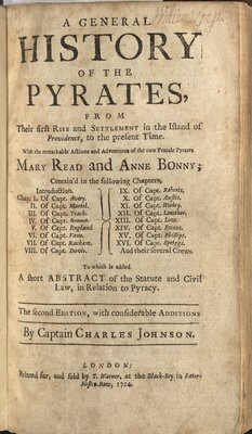 A General History of the Pyrates…  - Title page