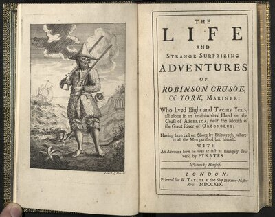 The Life and Strange Surprizing Adventures of Robinson Crusoe of York, mariner  - Title page
