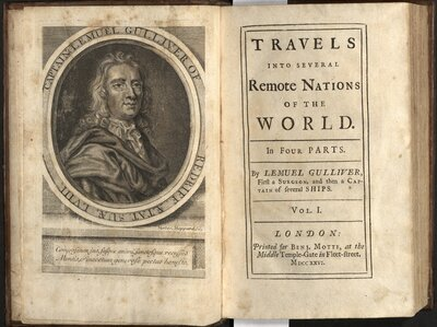 Travels into several remote nations… By Captain Lemuel Gulliver, Vol. I  - Title page