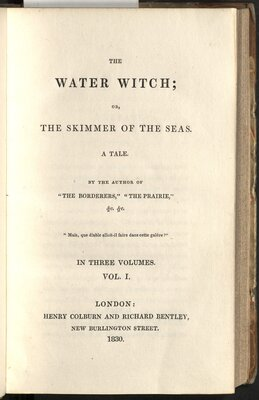 The Water Witch: or, The Skimmer of the Seas  - Title page