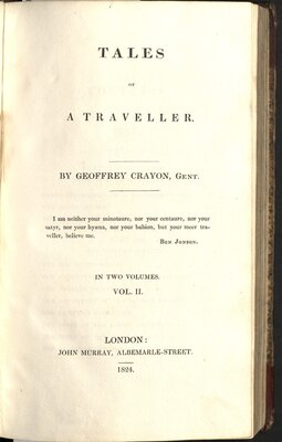 Tales of a Traveller  - Title page