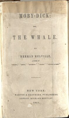 Moby Dick, Or, The Whale  - Title page