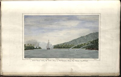 """Log of Her Majesty's Screw Steam Frigate """"Curacoa"""" Bearing the Flag of Commodore Sir W. Wiseman  - Log"""