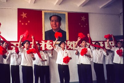 Young Students Performing Revolutionary Routine