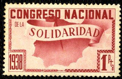 Spanish Civil War Stamp: Solidarity