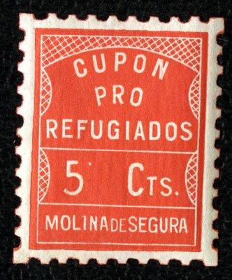 Spanish Civil War Stamp: Refugees