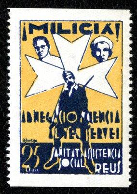 Spanish Civil War Stamp: Militia Groups