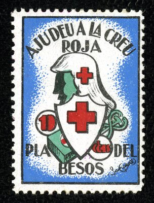 Spanish Civil War Stamp: Spanish Red Cross