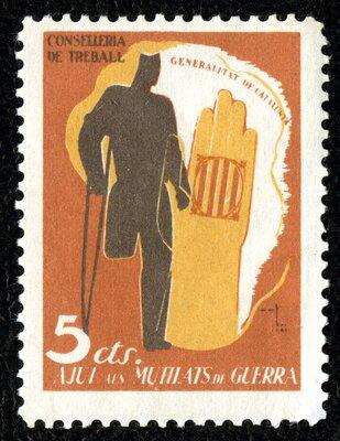 Spanish Civil War Stamp: Casualties