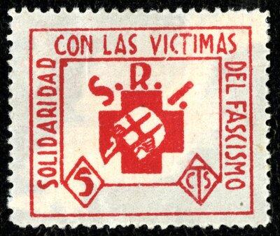 Spanish Civil War Stamp: International Red Aid