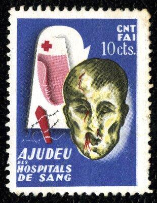Spanish Civil War Stamp: Political and Trade Organizations