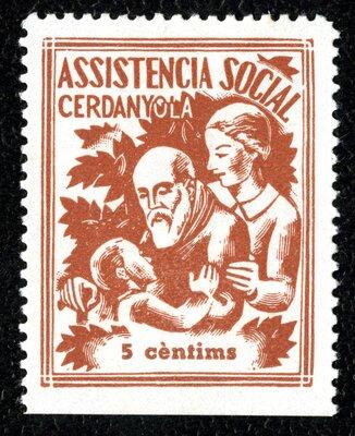 Spanish Civil War Stamp: Social Assistance
