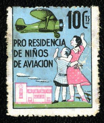 Spanish Civil War Stamp: Children and Orphans