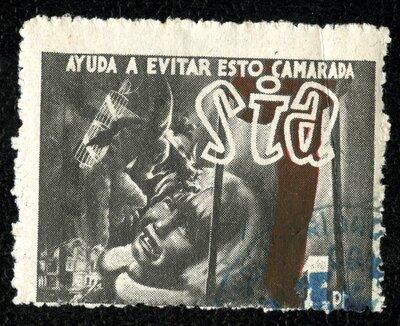 Spanish Civil War Stamp: International Antifascist Solidarity