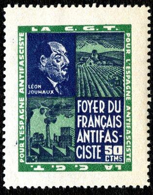 Spanish Civil War Stamp: Forum of French Antifascists