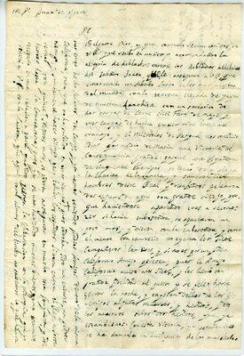 Autograph letter signed Loreto Mission, California, 17 April 1698 - Page 1