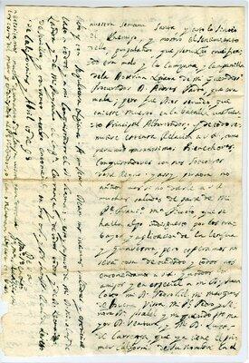 Autograph letter signed Loreto Mission, California, 17 April 1698 - Page 4