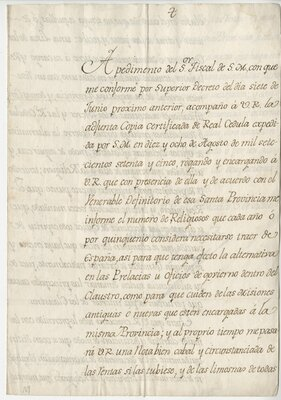 [Manuscript letter, signed from the Viceroy of New Spain]