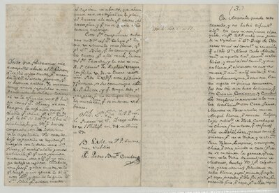 [Collection of five letters relating to Father Pedro Benito Cambón, the San Diego mission, and the importation of church decorations]