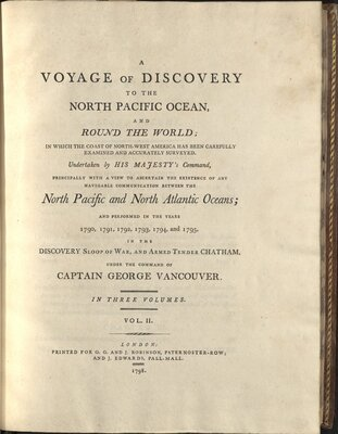 A Voyage of Discovery to the North Pacific Ocean and Round the World - Title Page