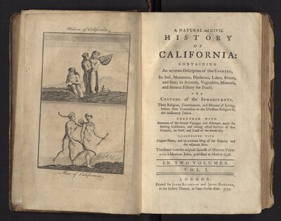 A Natural and Civil History of California - Title Page Volume 2