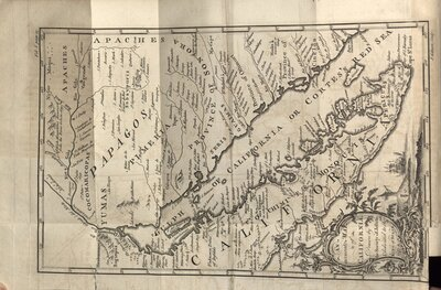 A Natural and Civil History of California - Map of the Gulf of California