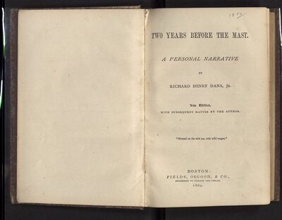 Two Years Before the Mast - Title Page