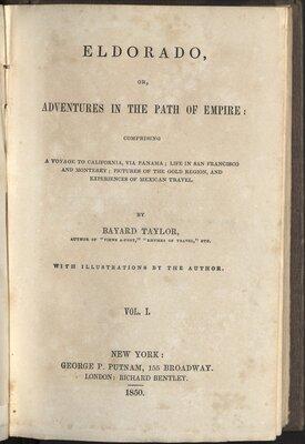 Eldorado, or, Adventures in the Path of Empire - Title Page
